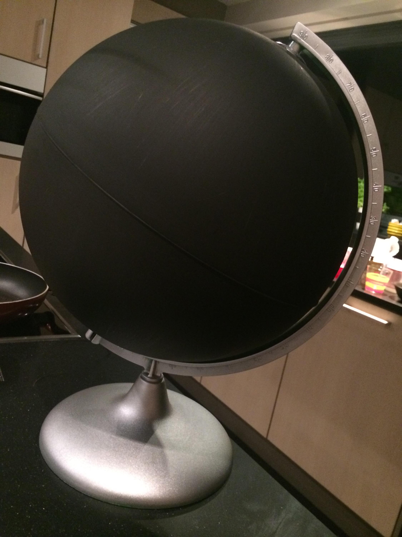 DIY : nieuwe wereldbol